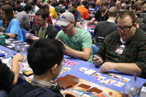 That's me in the green shirt!  (Photo Credit:  Fantasy Flight Games)